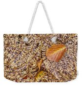 Dried Leaf On The Fern Weekender Tote Bag