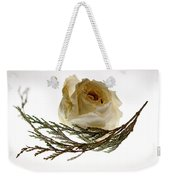 Dried White Rose Weekender Tote Bag