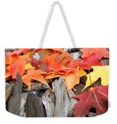 Driftwood Autumn Leaves Art Prints Baslee Troutman Weekender Tote Bag