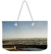 Driftwood On Arctic Beach Weekender Tote Bag