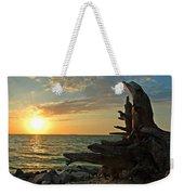 Driftwood Sunset Weekender Tote Bag