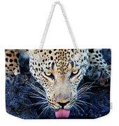 Drinking Leopard Weekender Tote Bag