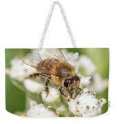Drinking Up The Nectar, Apis Mellifera Weekender Tote Bag