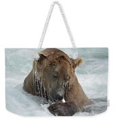 Dripping Grizzly Bear Weekender Tote Bag