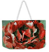 Dripping Poster Rose On Green Weekender Tote Bag