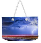 Drive By Lightning Strike Weekender Tote Bag