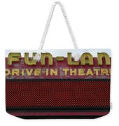 Drive Inn Theatre Weekender Tote Bag