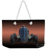 Driver And His Race Car Weekender Tote Bag