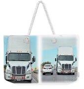 Driving In Reverse Weekender Tote Bag