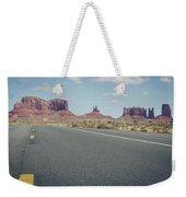 Driving Monument Valley Weekender Tote Bag