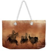 Driving The Herd Weekender Tote Bag by Corey Ford