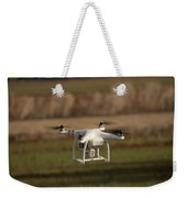 Drone Fly Above The Field Weekender Tote Bag