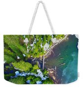 Drone Shot Of Lake 22 Bridge Weekender Tote Bag