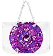 Drop Mandala Purple And Blue Weekender Tote Bag