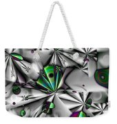 Droplets And Shuriken Green Weekender Tote Bag