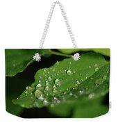 Droplets On A Leaf  Weekender Tote Bag