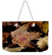 Droplets On Fallen Leaves Weekender Tote Bag
