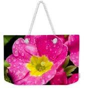 Droplets On Flower Weekender Tote Bag