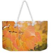 Drops Of Autumn Weekender Tote Bag