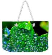 Drops On Leaf Weekender Tote Bag