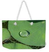 Drops On Lotus Leaf Weekender Tote Bag
