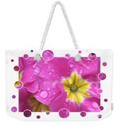 Bubbly Pink Raindrops  Weekender Tote Bag
