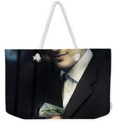 Drug Dealer With Marijuana Weekender Tote Bag