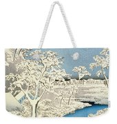 Drum Bridge And Setting Sun Hill At Meguro Weekender Tote Bag by Hiroshige