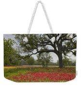 Drummonds Phlox Meadow Near Leming Texas Weekender Tote Bag by Tim Fitzharris