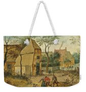Drunkard Being Taken Home From The Tavern By His Wife Weekender Tote Bag