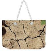 Dry Cracked Earth And Green Leaf Weekender Tote Bag