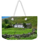 Dry Stone Wall And White Cottage - P4a16022 Weekender Tote Bag