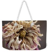 Drying And Aged Dahlia Weekender Tote Bag