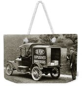 Du Pont Co. Explosives Truck Pennsylvania Coal Fields 1916 Weekender Tote Bag