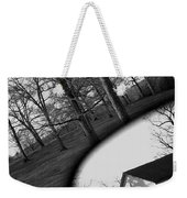 Duality - A Black And White Photograph Symbolically Representing The Gravity Of Choice  Weekender Tote Bag