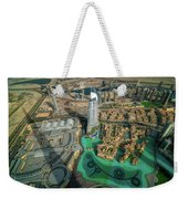Dubai Downtown Aerial View By Sunset, Dubai, United Arab Emirates Weekender Tote Bag