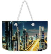 Dubai Downtown Architecture And A Highway.  Weekender Tote Bag