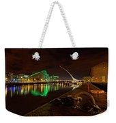 Dublin's Samuel Beckett Bridge At Night Weekender Tote Bag