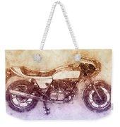 Ducati Supersport 2 - Sports Bike - 1975 - Motorcycle Poster - Automotive Art Weekender Tote Bag