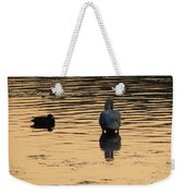 Duck And Swan At Sunrise Weekender Tote Bag