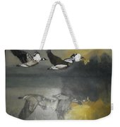 Duck Are Flying On The Sea Side Weekender Tote Bag