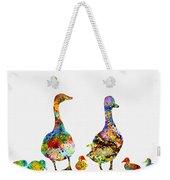 Duck Family-colorful Weekender Tote Bag