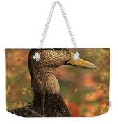Duck In Autumn Weekender Tote Bag