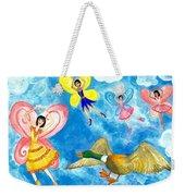Duck Meets Fairy Ballet Class Weekender Tote Bag
