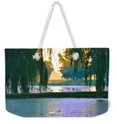 Duck Pond At Dawn Weekender Tote Bag