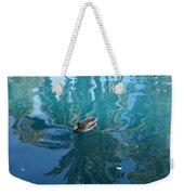 Duck Swimming In The Blue Lagoon Weekender Tote Bag