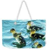 Ducklings Digital Water Color Weekender Tote Bag