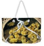 Ducklings In A Basket Weekender Tote Bag