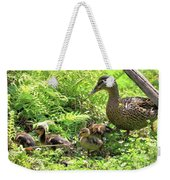 Ducklings Through The Ferns Weekender Tote Bag
