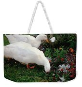 Ducks In The Garden At The Shipwright's Cafe Weekender Tote Bag